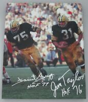 Packers JIM TAYLOR & FORREST GREGG Signed Stretched 16x20 Sports Canvas AUTO
