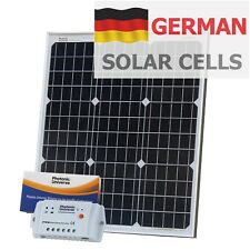 50W 12V solar panel kit (10A controller, 5m cable) for camper / boat 50 watt