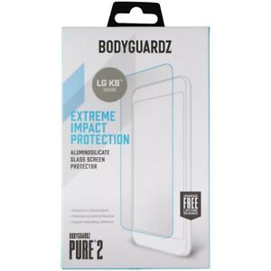 BodyGuardz Pure 2 Series Glass Screen Protector for LG K8 (2018) - Clear