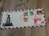 ECUADOR TO GERMANY EQUATOR POSTED COVER TORN / STAMPS £1.60 POST FREE UK  bx4