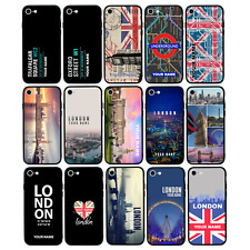 Personalised Glass Back Case for iPhone 6 6s 7 8 PLUS X XS MAX XR / LONDON