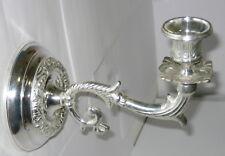 silberner Wandleuchter Klavierleuchter im Antik Stil, Messing vernickelt, stabil