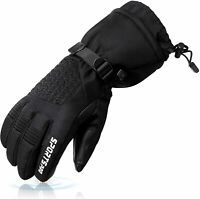 Mens Ski Gloves Women Waterproof Snowboard Touchscreen Winter Gloves (Size:L)