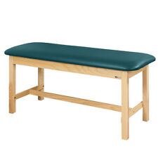 "Treatment Exam Table Flat top Wooden H-brace frame 30"" Slate Blue"
