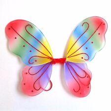 Girls Kids Angel Fairy Butterfly Wings Halloween Fancy Dress Costume Colorful