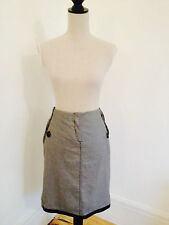Morgan De Toi Black and White Houndstooth Dogtooth Pencil Skirt. T38 or UK 10