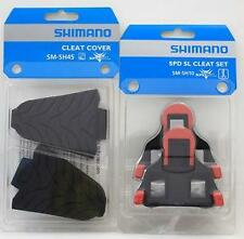 Shimano SM-SH10 SM-SH45 Combo SPD-SL Cleats & Covers Red Cleat with Rubber Cover