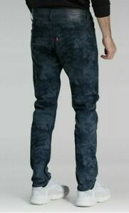 Levis Men's 512 Slim Taper Performance Coolmax Blue Camo Jeans~Size 33x30~NWT!