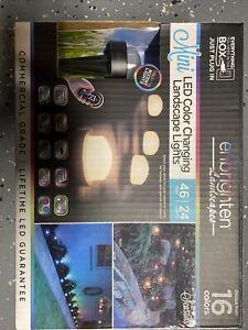 Enbrighten Landscapes Path Lights 24 Mini Lights 46ft LED Color Changing