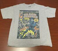Marvel Black Panther Comic Book Cover T-Shirt Gray Large Short Sleeve Men's