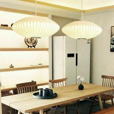 1-Light Silk Saucer Bubble Hanging Pendant Light Chandelier Lamp Fixture White