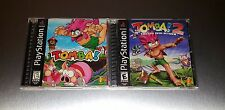 Tomba 1 + 2 Evil Swine Return Lot ☆☆ Complete w/ MINT CASES ☆☆ PS1 Playstation 1