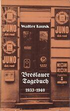 Breslauer Tagebuch 1933 - 1940/Breslau/Schlesien/Juno-Werbung/Juden/NS/Vertreib.