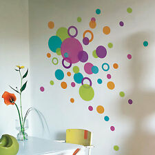 88 Dots Circle Wall Stickers Multi Colour Size Children Nursery Kid Sticker