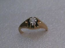 Victorian 10kt Engagement/Wedding Ring, size 7.5, 2.66 grams, 5mm Crystal/Quartz