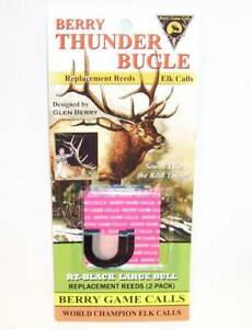 Berry Thunder Bugle Game Elk Call Replacement Reeds Thick RT-Black Large Bull