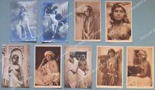 NUDI. 9 cartoline d'epoca