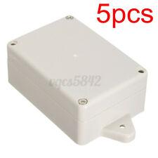 5x Electronic Project Cover Enclosure Box Case Plastic Set Waterproof