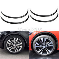 4x 72cm Black Car Wheel Eyebrow Arch Trim Lips Fender Flares Protector