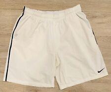 Mens Nike Dri-Fit Tennis Shorts  (White/Black)  *Size L*