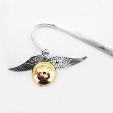 Hot sale Wing Snitch Metal Bookmark Tibetan Silver Potterhead Birthday Gift