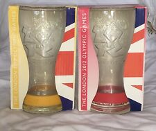 Two Coca Cola Olympic 2012 Collectors Glasses In Box
