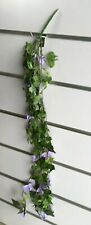 4X Artificial Purple Rose Flower Vine Hanging Leaves we-flo111