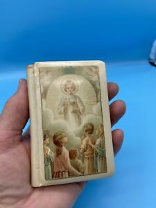 """Antique Celluloid Catholic Prayer Book for the Young """"Bless Me Jesus"""" 1939"""