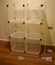 3x2 DIY Cube Storage Cupboard Cabinet Wardrobe Shoe Rack Toy Book Shelf Shelves
