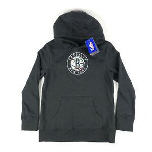 Brooklyn Nets NBA Fanatics Womens Medium Black Floral Pullover Hoodie Sweatshirt