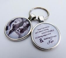 Personalised Friendship Keychain Gift Idea 'True Friendship isn't about being'