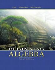 Beginning Algebra, Hornsby, John, McGinnis, Terry, Lial, Margaret L., Very Good