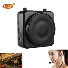 AKER 22W Waistband Voice Amplifier Booster Wired TF USB Play MP3 TF For Teacher