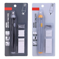 Handy Electric Battery Operated Pencil Eraser Rubber Out Pen + 22 Refills Set