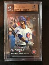 WILLSON CONTRERAS 2016 Topps NOW Chicago Cubs Postseason CHC-5 BGS10 PRISTINE RC