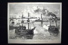 Bombardamento Alessandria:11/13 giugno 1882 Sultan,Alexandra Incisione del 1882