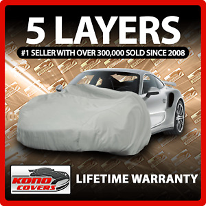5 Layer Car Cover - Soft Breathable Dust Proof Sun Uv Water Indoor Outdoor 5539