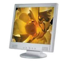"🖥 Acer AL716 17"" LCD Monitor PC Computer Security Camera Graphic Design White"