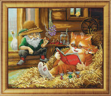 """Bead Embroidery kit GOLDEN HANDS LM-0024 - """"Fairy tales in the hayloft"""""""