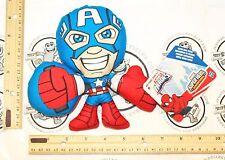 "CAPTAIN AMERICA - MARVEL SUPER HERO ADVENTURES PLAYSKOOL 6.75"" PLUSH TOY FIGURE"