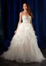 981 ALFRED ANGELO SAPPHIRE IVORY/SILVER SZ 10 $1795 WEDDING GOWN DRESS