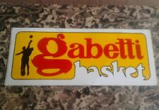 ADESIVO STICKER VINTAGE GABETTI BASKET CANTÙ ANNI 70/80