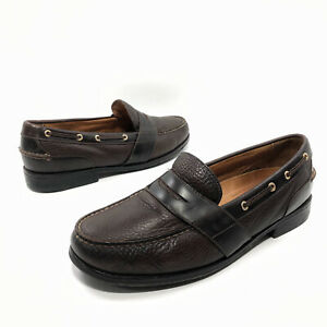 ✅❤️✅@ Sperry Top-Sider Gold Cup Collection Brown Penny Loafers Men'11 W Vibram