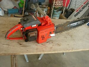 """Vintage HOMELITE XL-12 Chainsaw Chain Saw with 16"""" Bar"""