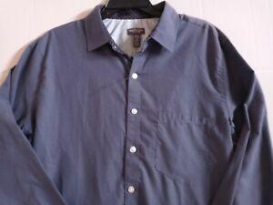 NWT Men's Van Heusen Blue Never Tuck Shirt Size LT/GL 16-16.5