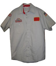 AWANA Cubs VINTAGE Uniform Shirt Mens RARE Gray size M Medium Pioneers Patch