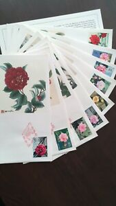 PRC China T37 set of 9 covers Camellias of Yunnan FDC Fleetwood 制作