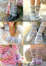 Socks, Leg Warmers and Wrist Warmers in Sirdar Crofter DK 9135 Knitting Pattern