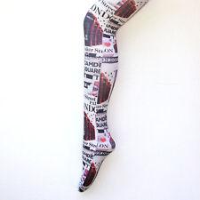 Flirt señoras Londres famosos lugares de interés impresión Impreso Calzas nuevo diseñador calcetería Nuevo