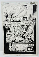 SPAWN ORIGINAL COMIC BOOK PAGE ISSUE 38 TONY DANIEL 1995 IMAGE COMICS RARE